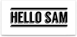 Hello Sam Logo