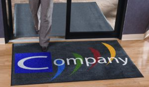 customised office entrance mat