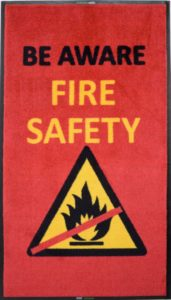 fire safety message mat