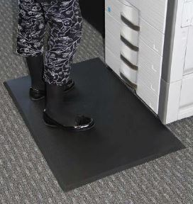 person standing on an Anti-Fatigue mat