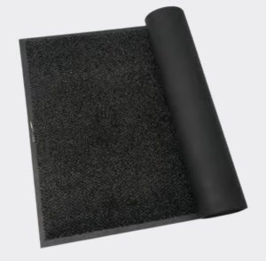 slightly rolled black evolution anthracite mat