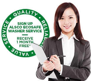 Alsco ecosafe washer new promotional logo