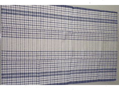 Blue striped tea towel from Alsco