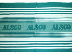 Jacquard woven tea towel from Alsco