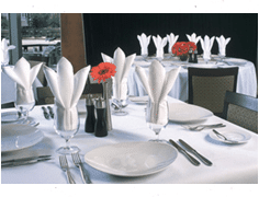 White tradition table linens