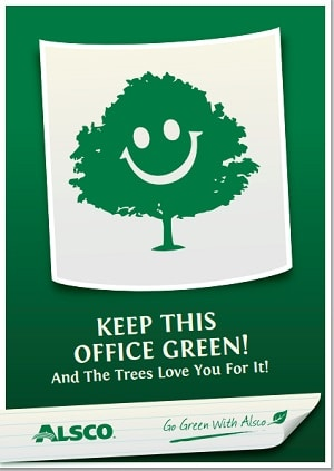 posters for office. Keep This Office Green. Downloadable A4 Poster Posters For