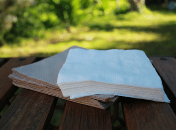 Recycled sugar cane napkins