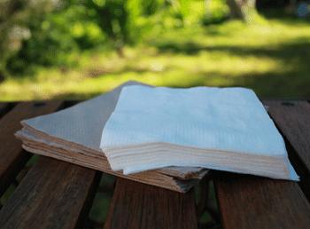 Recycled sugar cane napkins