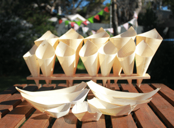 Gourmet Wooden Pine Boats and Cones