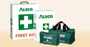 Wall-mounted first aid cabinets to defibrillators.