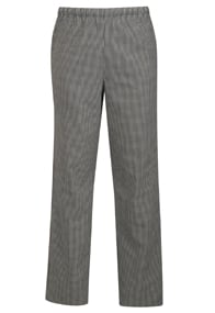 Alsco Blackwhite Check Polycotton Trouser