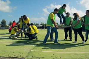 Employees activities such as team building