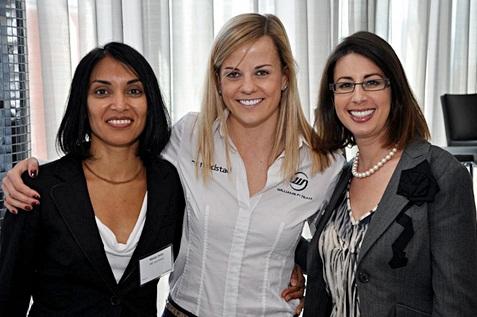 Three female happy employees