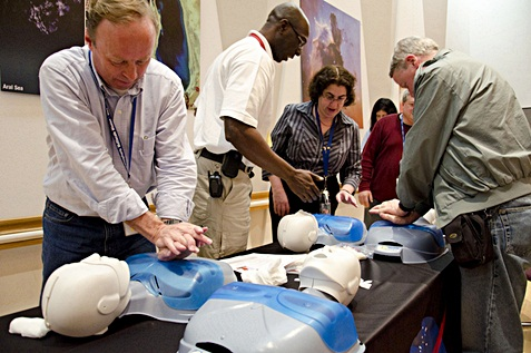 CPR training for employees.