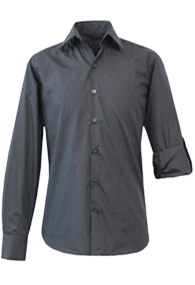 Black long sleeve slim-fit shirt