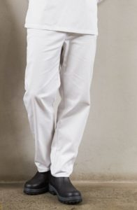Alsco White Drawstring Pant