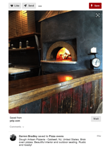 A Pinterest post made by Darren Bradley about traditional oven