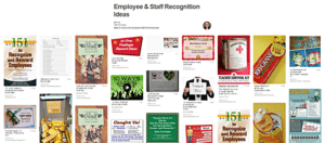 Employee and staff recognition ideas from Pinterest board