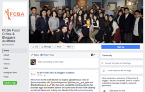 Facebook page of FCBA Food Critics and Bloggers Australia
