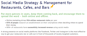 Social media strategy for restaurants, cafes, and bars