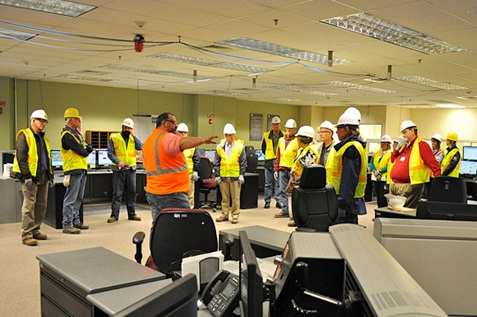 Employees under orientation before proceeding to final work.