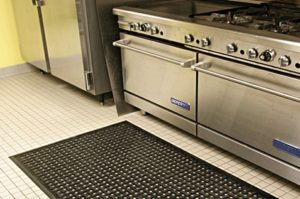 Safety mat and kitchen equipment for restaurants