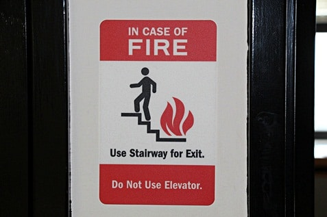 Safety reminder in case of emergency.