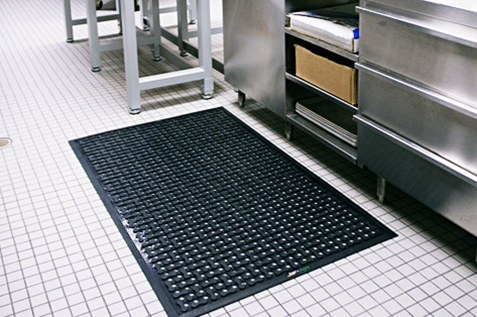 Specific kind of mat for wet areas.