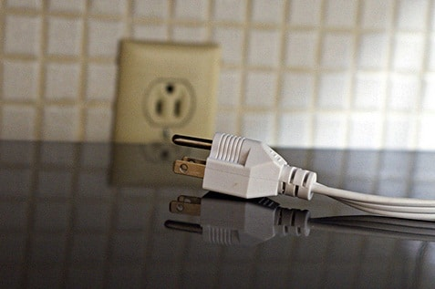 Unplug all the electrical sockets and devices if not in use.
