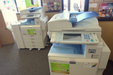 Two high technology photocopier