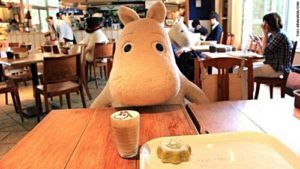 Cute Hippo stuff toy will dine with you in Japan