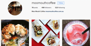 Instagram worthy images from Moo Mouth Coffee