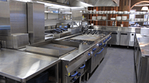 Clean and organised commercial kitchen