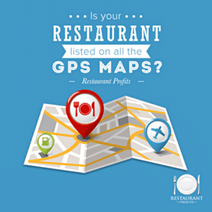 List your restaurant business on all the GPS Maps