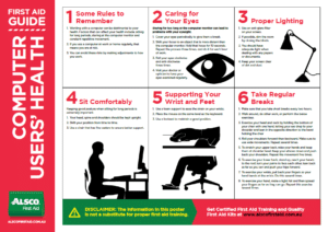 Computer User's Health Poster