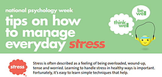 Poster about managing stress