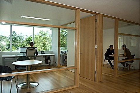 Big office utilising natural light