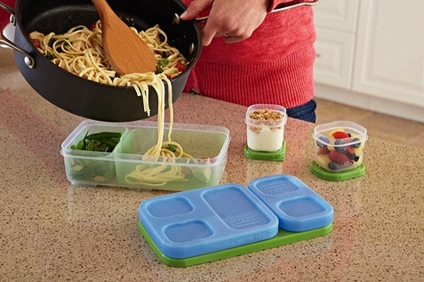 Preparing healthy lunch in a lunch box