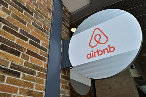 Airbnb company signage and logo