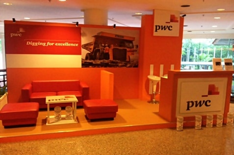 Corporate booth by PwC