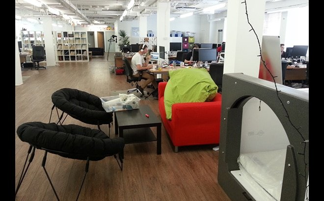 Nap pods in the workplace