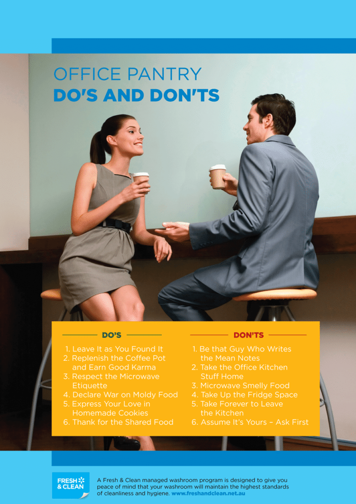 Workplace Etiquette Poster for your Office Pantry