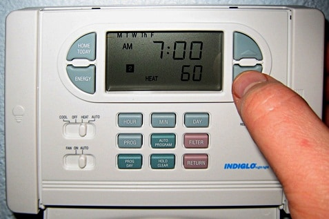 A device called thermostat for controlling temperature