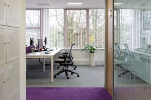 Clean office using natural light