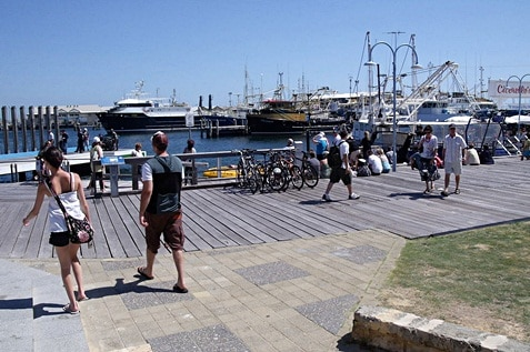 Fishing boat harbour at Fremantle