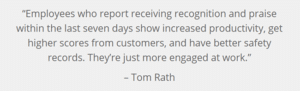 Employee gratitude quote from Tom Rath