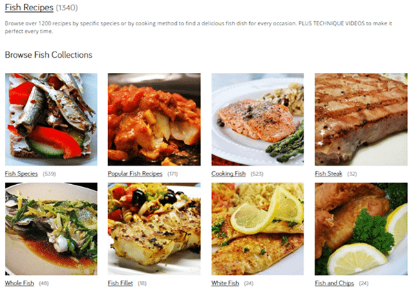 List of over 1,200 fish meal recipes