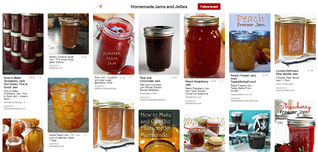 List of different homemade jams