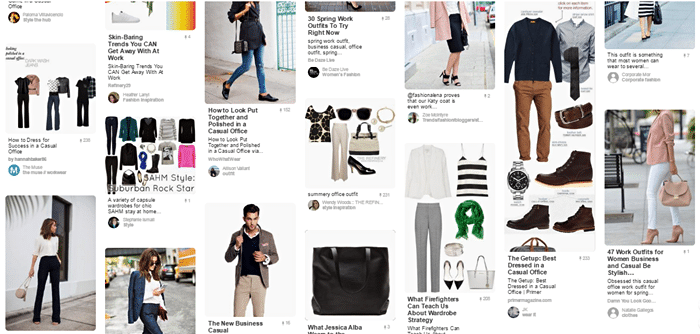 Office casual attire ideas from Pinterest