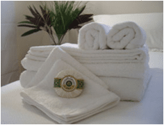 Clean and white towels from Alsco